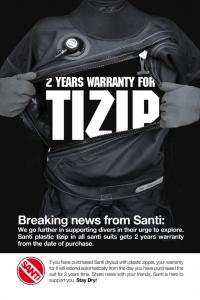 2 jaar garantie TIZIP